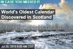 World's Oldest Calendar Discovered in Scotland