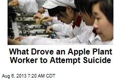 What Drove an Apple Plant Worker to Attempt Suicide