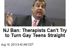 NJ Ban: Therapists Can't Try to Turn Gay Teens Straight