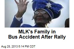 MLK's Family in Bus Accident After Rally