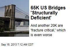 65K US Bridges 'Structurally Deficient'