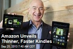 Amazon Unveils Thinner, Faster Kindles