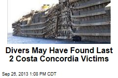 Divers May Have Found Last 2 Costa Concordia Victims