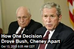 How One Decision Drove Bush, Cheney Apart