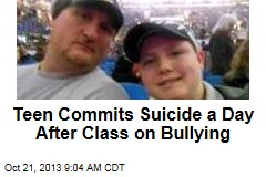 Teen Commits Suicide a Day After Class on Bullying