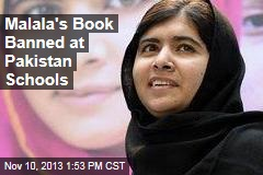 Malala's Book Banned at Pakistan Schools