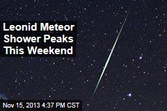 Leonid Meteor Shower Peaks This Weekend