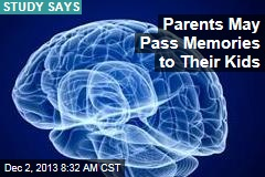 Parents May Pass Memories to Their Kids