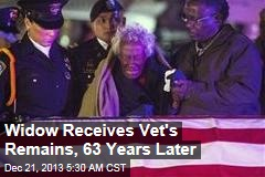 Widow Receives Vet's Remains, 63 Years Later