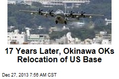 17 Years Later, Okinawa OKs Relocation of US Base