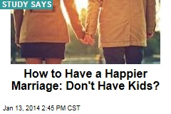 How to Have a Happier Marriage: Don't Have Kids?