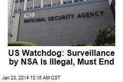 US Watchdog: Shut Down Illegal NSA Surveillance