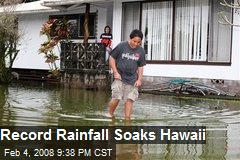 Record Rainfall Soaks Hawaii