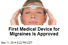 First Medical Device for Migraines Is Approved