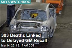303 Deaths Linked to GM Air Bag Failure