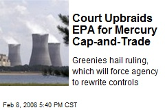 Court Upbraids EPA for Mercury Cap-and-Trade