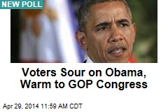 Voters Sour on Obama, Warm to GOP Congress