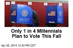 Only 1 in 4 Millennials Plan to Vote This Fall