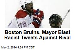 Boston Bruins, Mayor Blast Racist Tweets Against Rival