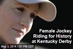 Female Jockey Riding for History at Kentucky Derby