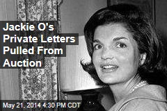 Jackie O's Private Letters Pulled From Auction