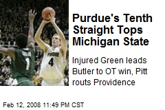 Purdue's Tenth Straight Tops Michigan State