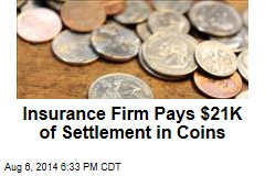 Insurance Firm Pays $21K of Settlement in Coins