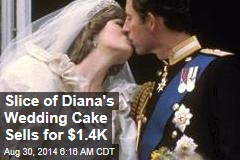Slice of Diana's Wedding Cake Sells for $1.4K