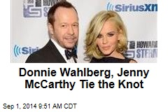 Donnie Wahlberg, Jenny McCarthy Tie the Knot