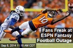 Fans Freak at ESPN Fantasy Football Outage