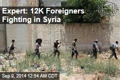 Expert: 12K Foreigners Fighting in Syria