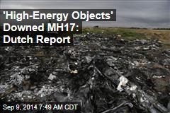 'High-Energy Objects' Downed MH17: Dutch Report