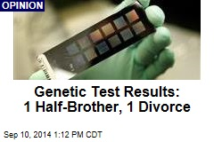 Genetic Test Results: 1 Half-Brother, 1 Divorce
