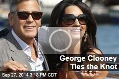 George Clooney Ties the Knot
