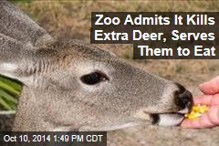 Zoo Admits It Kills Extra Deer, Serves Them to Eat
