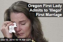Oregon First Lady Admits to 'Illegal' First Marriage