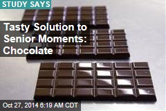 Tasty Solution to Senior Moments: Chocolate
