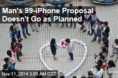 Man Proposes With 99 iPhones, But She Says No