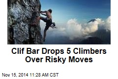 Clif Bar Drops 5 Climbers Over Risky Moves