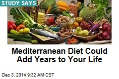 Mediterranean Diet Could Add Years to Your Life