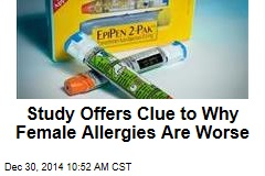 Study Offers Clue to Why Female Allergies Are Worse