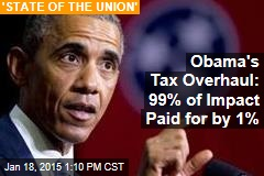 Obama's Tax Overhaul: 99% of Impact Paid for by 1%