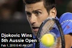 Djokovic Wins 5th Aussie Open
