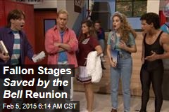 Fallon Stages Saved by the Bell Reunion