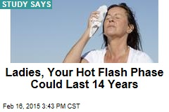 Ladies, Your Hot Flash Phase Could Last 14 Years