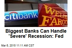Biggest Banks Can Handle 'Severe' Recession: Fed