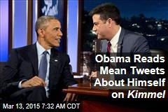Obama Reads Mean Tweets, Talks Ferguson on Kimmel