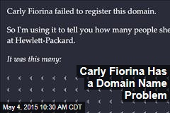 Carly Fiorina Has a Domain Name Problem