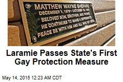 Laramie Passes State's First Gay Protection Measure