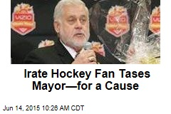Irate Hockey Fan Tases Mayor—for a Cause